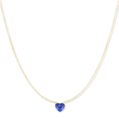 The Sweetheart Necklace - Blue Sapphire