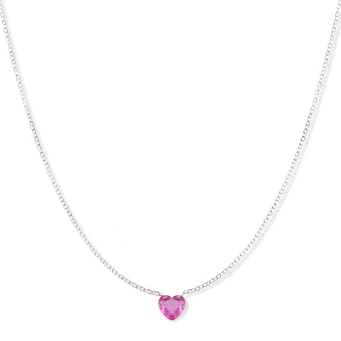 The Sweetheart Necklace - Pink Sapphire