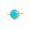 Turquoise Statement Lattice Ring
