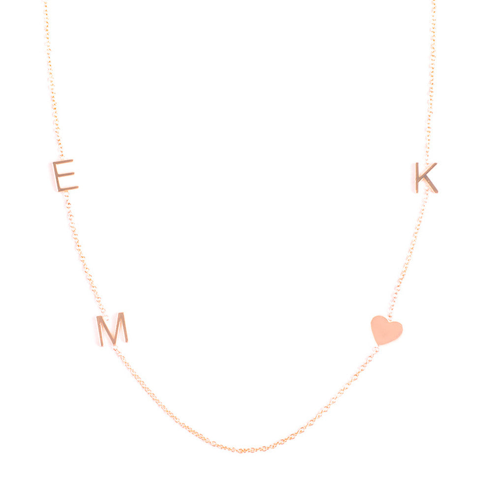 14K GOLD 4 LETTER NECKLACE – Maya Brenner