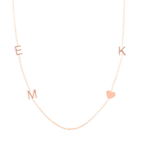 Necklaces letter numbers charms maya brenner 14k gold 4 letter necklace aloadofball Images