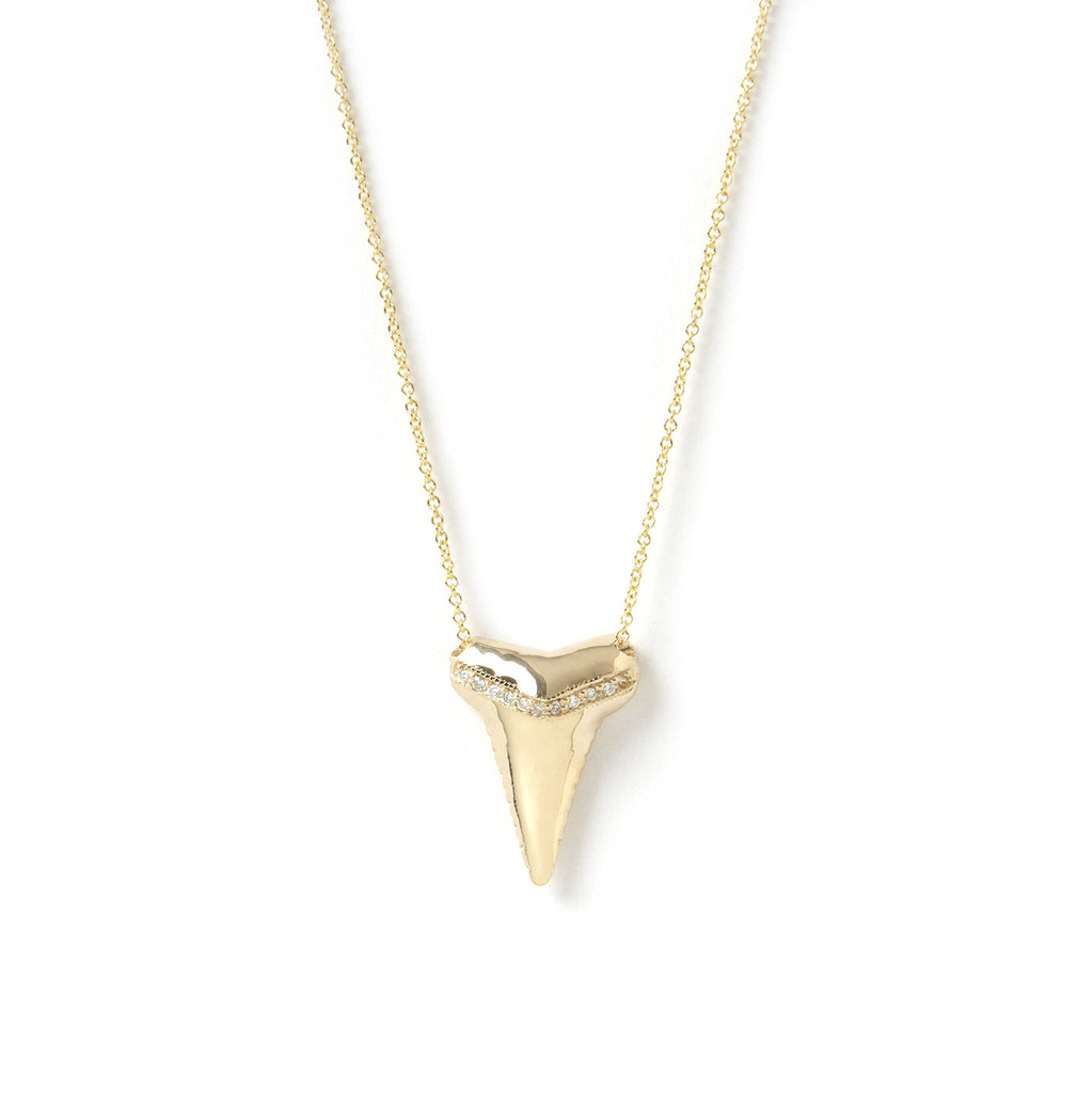 Sharktooth Necklace with Diamond Ridge