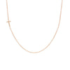 14K GOLD ASYMMETRICAL LETTER NECKLACE - T
