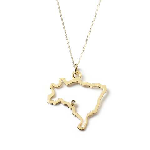 Country Pendant with Diamond