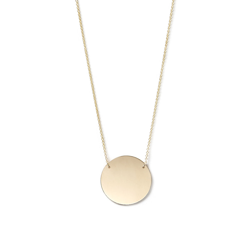 Geometric Circle Necklace