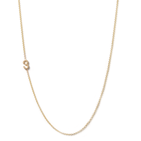 14K GOLD ASYMMETRICAL NUMBER NECKLACE - 3