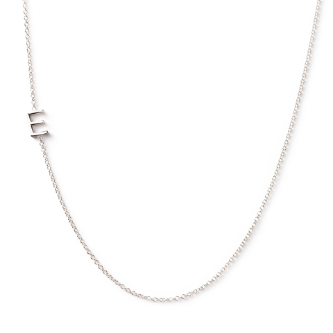 14K GOLD ASYMMETRICAL LETTER NECKLACE - E