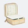 Travel Jewelry Case - Gold/Cream
