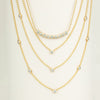 Quintet Diamond Layering Necklace