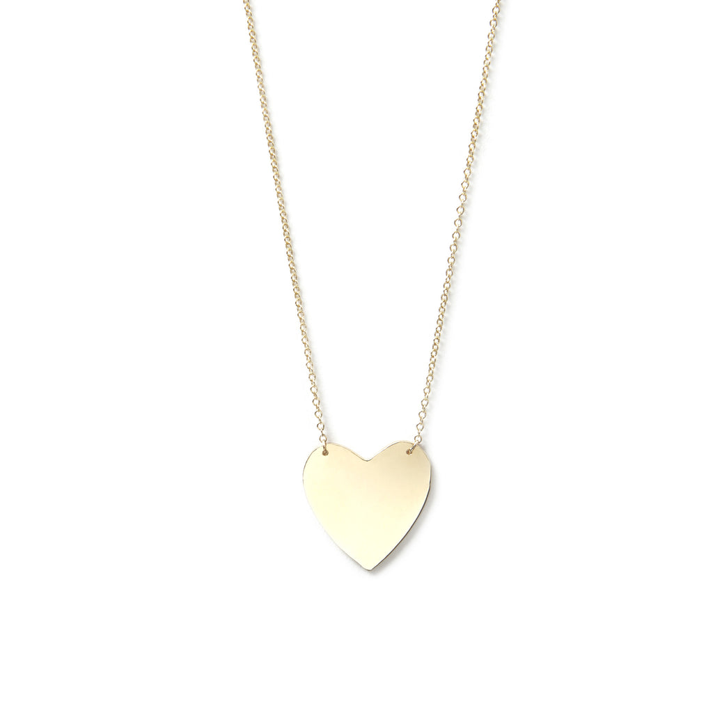 gold products heart collection misuzi silver necklace