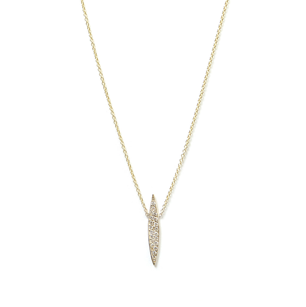 Pavé Long Horizon Necklace