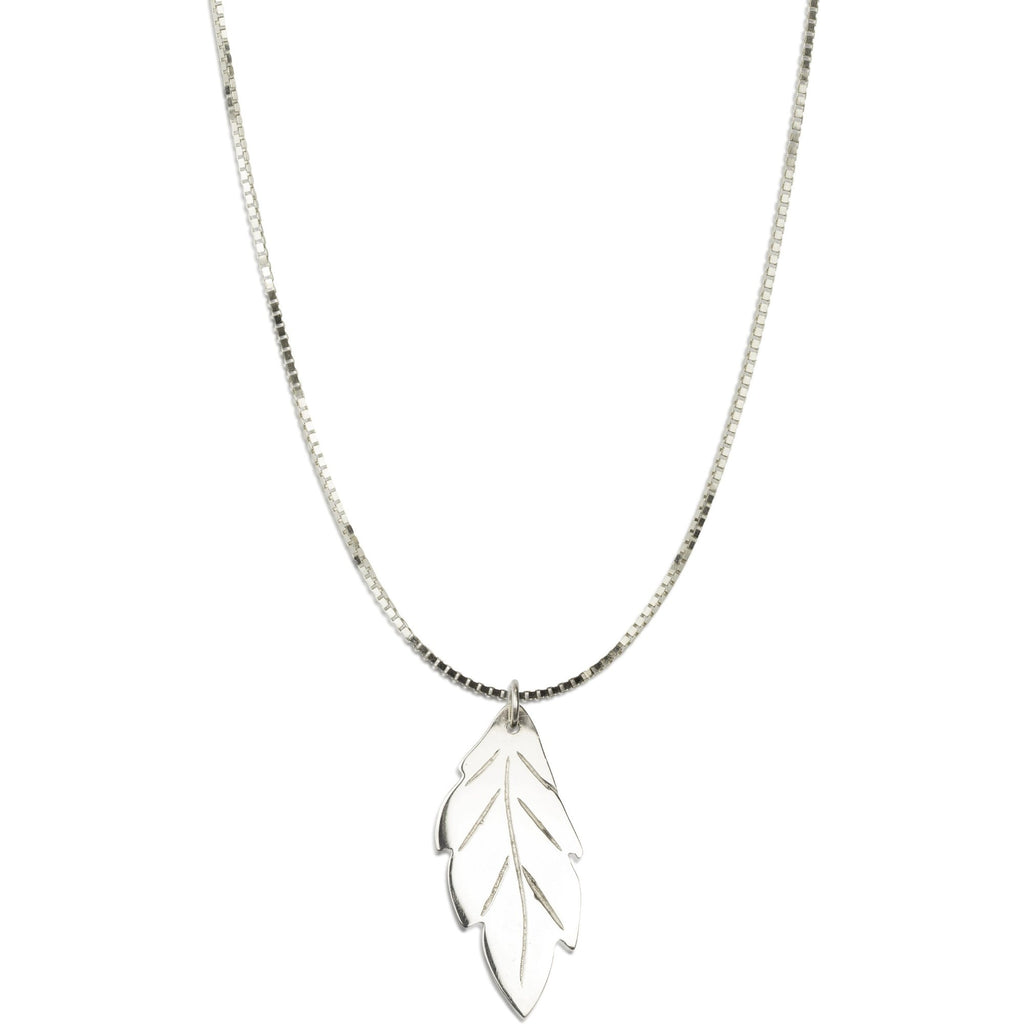 20TH ANNIVERSARY LEAF PENDANT - PLATINUM