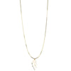 20TH ANNIVERSARY LEAF PENDANT - 14K GOLD