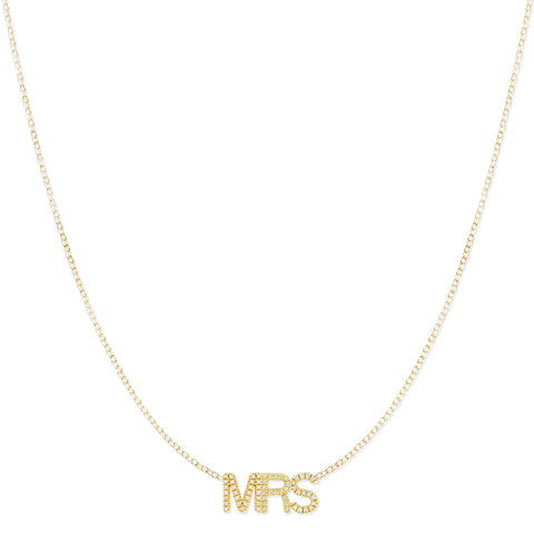Pavé MRS Necklace