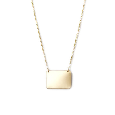 Geometric Rectangle Necklace