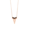 Sharktooth Necklace with Pavé Top | Black Diamonds