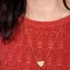 Geometric Triangle Necklace