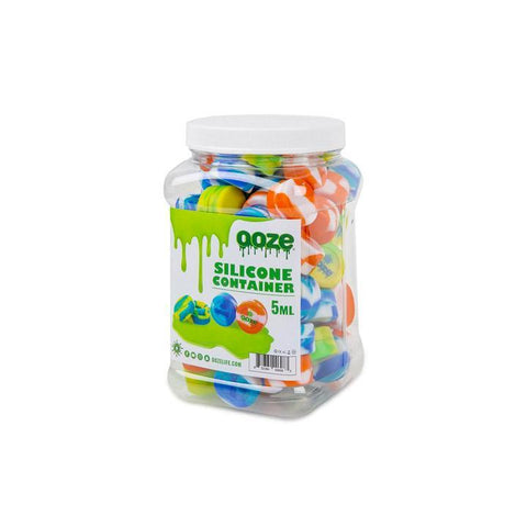 Ooze Silicone Containers Tie Dye 5ml Alternative LA Vapor Wholesale