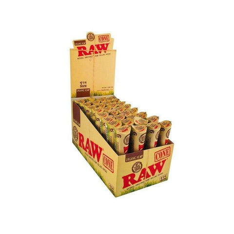 RAW Rolling Paper Cones 1 1/4 Alternative LA Vapor Wholesale
