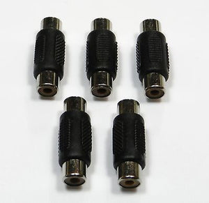 5 Pack Female to Female RCA Coupler Adapter Connector