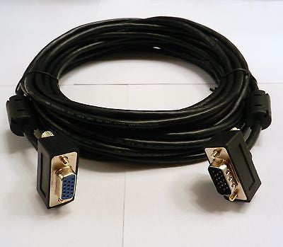 35FT VGA SVGA MALE TO FEMALE MONITOR COMPUTER EXTENSION CABLE CORD