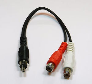 RCA Plug Male to 2 RCA Jacks Female Splitter Audio Video Adapter Cable Wire