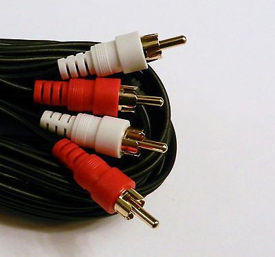 25FT 2 RCA / 2RCA PREMIUM GOLD STEREO AUDIO CABLE CORD