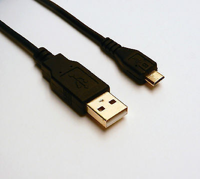 6FT USB 2.0 A Male to Micro B Male Data Sync Charger Adapter Cable Black