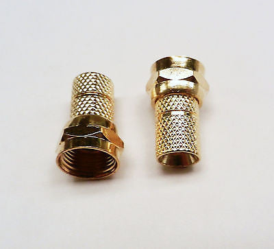 50 TWIST ON RG59 F-TYPE COAXIAL CABLE CONNECTOR PLUGS