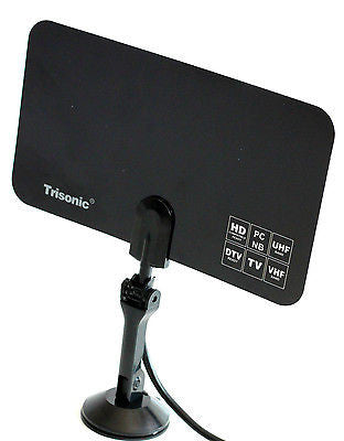 Universal Digital Indoor TV Antenna HDTV DTV Box Ready HD VHF UHF Flat Design