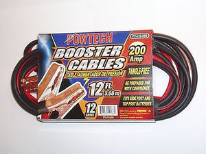 Heavy Duty 12 FT Booster Cable Jumping Cables Car Battery Power Jumper Starter