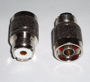 2 Pack UHF Female SO-239 to N Male Coax RF Adapters Connectors