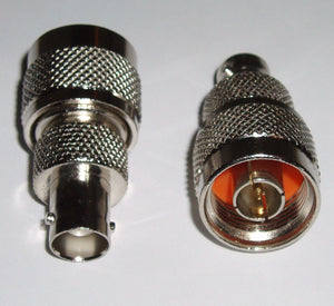 2 Pack N Male to BNC Female Coax RF Adapters Connectors