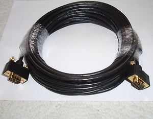 50FT VGA SVGA MALE TO MALE MONITOR COMPUTER CABLE 15M FOR HDTV