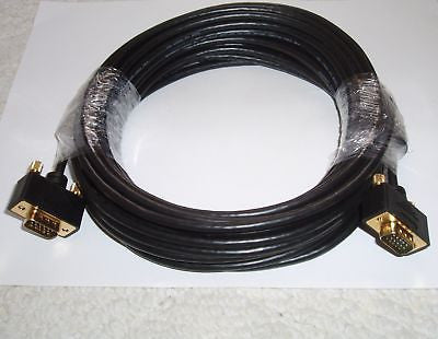 35FT VGA SVGA MALE TO MALE MONITOR COMPUTER CABLE 10.5M