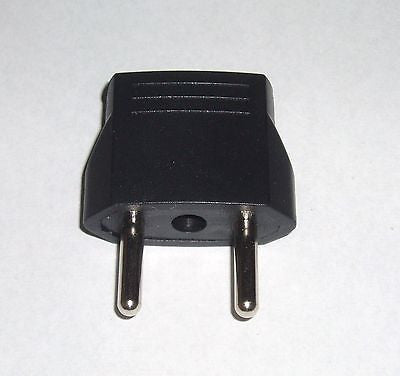 USA US Flat to EURO EU Round Pin Adapter Changer Plug