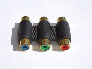 3-RCA COUPLER FEMALE TO FEMALE 3 RCA ADAPTOR CONNECTOR