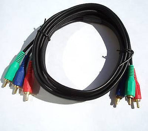3-RCA GOLD PLATED RGB COMPONENT VIDEO CABLE 6FT