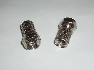 50 TWIST ON RG6 F-TYPE COAXIAL CABLE CONNECTOR PLUGS