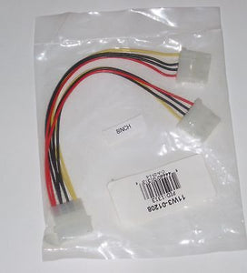 "8"" 4-Pin IDE Internal Power Molex Y-Splitter Cable"