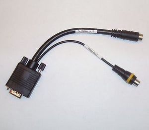 "8"" inch VGA to S-Video/RCA (Composite) Adapter Cable"