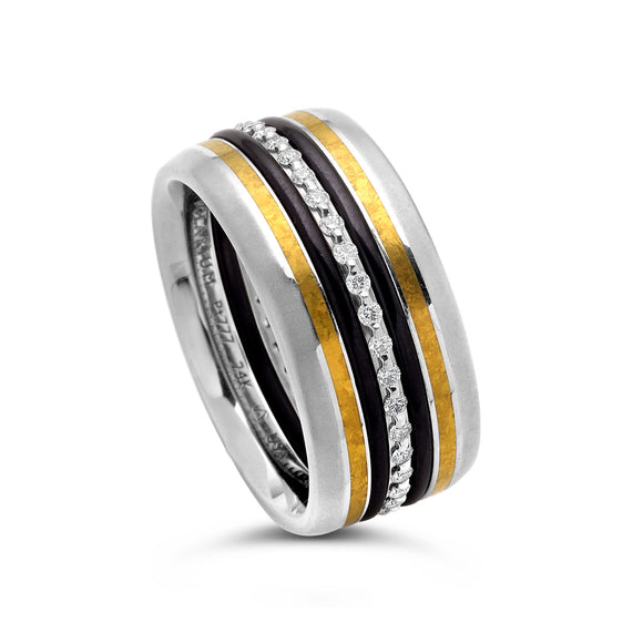 2-Gether Kissing Band with 24K Inlay