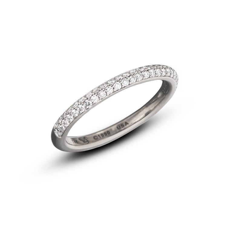Omega 2 Row Pave Eternity Band