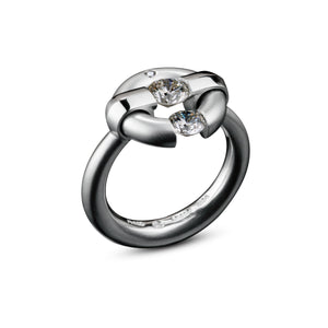 Two-Stone Diamond Jazz Ring