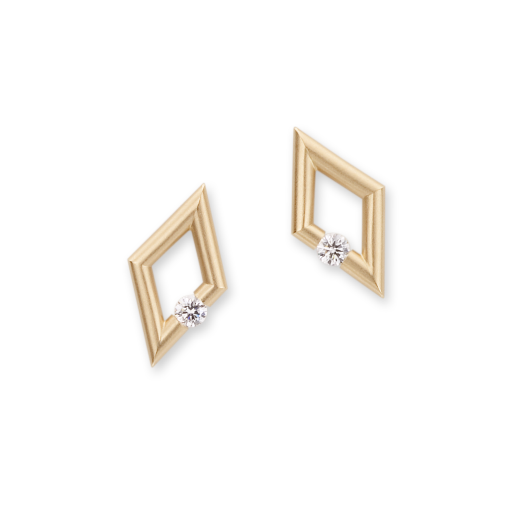 Diamond-Shape Micro Jazz Earrings