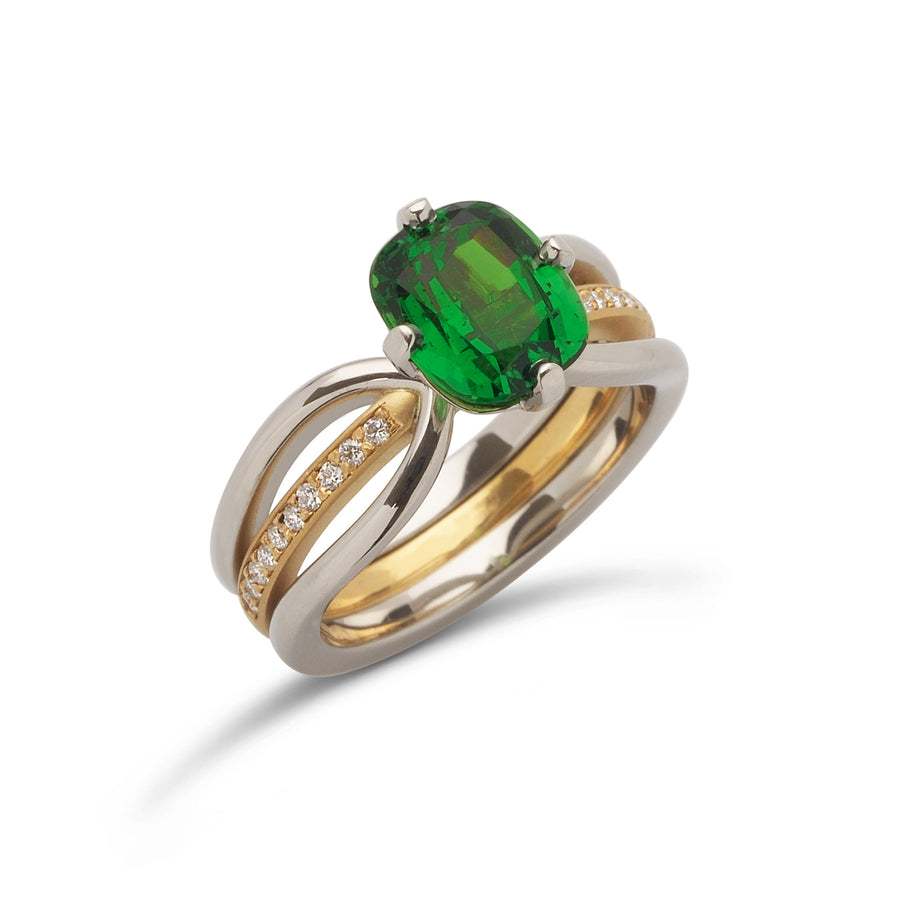 2.81 ct. Tsavorite Garnet set in Eliana