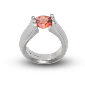 2.68 ct. Orange Sapphire set in Fancy Figure-8