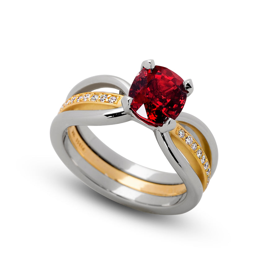 2.04 ct. Red Spinel set in Eliana