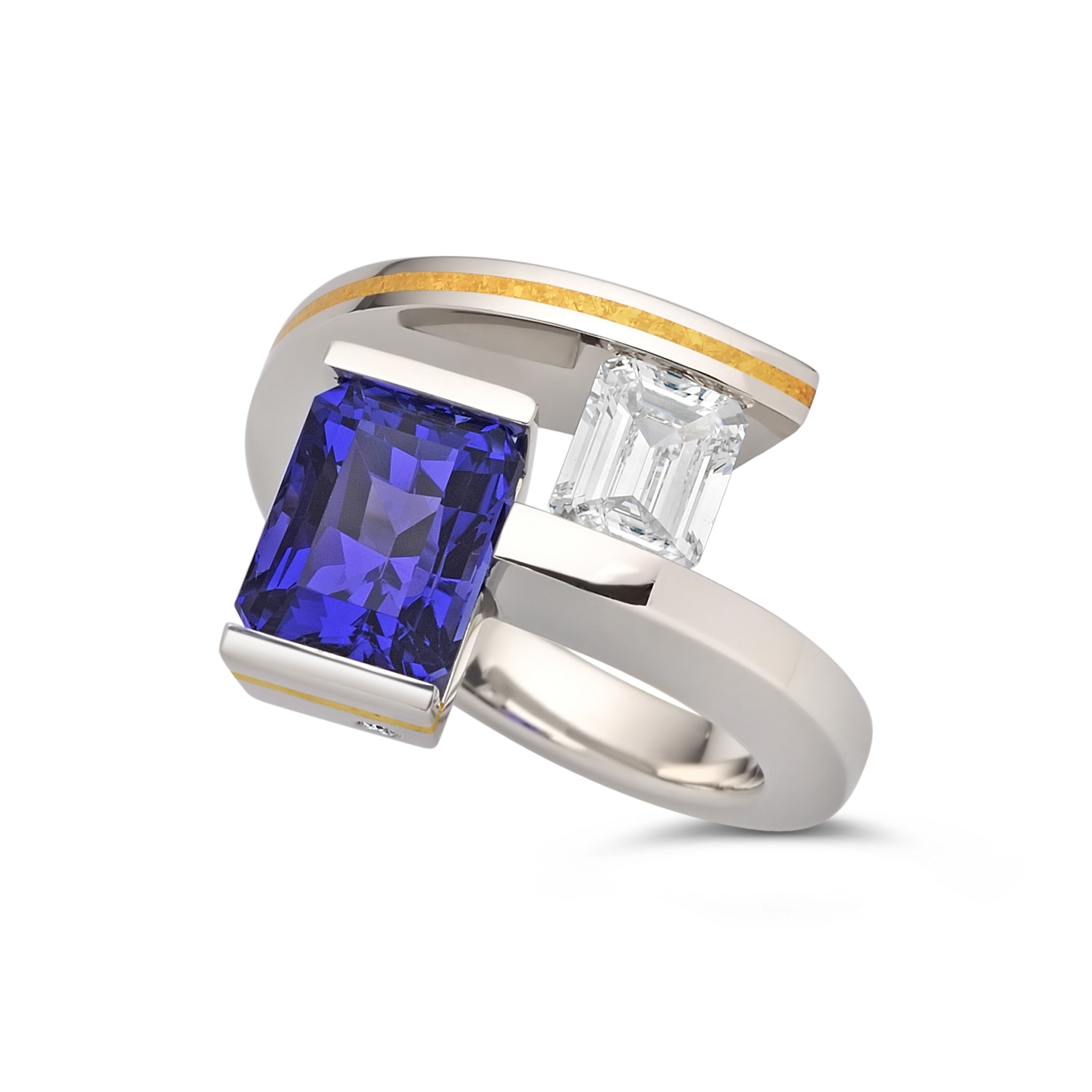 collections art tanzanite ring diamond gold deco white amp collection image