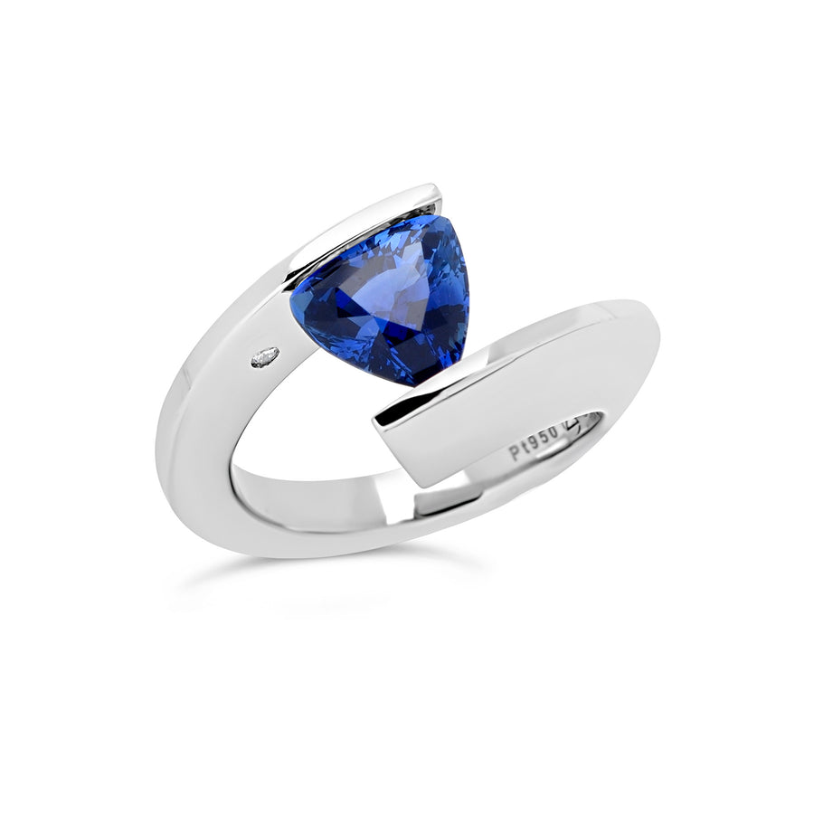 2.22 ct. Blue Sapphire set in TWH
